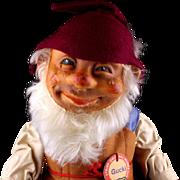 Early Post WWII Large Steiff Gucki Dwarf Doll Figure All ID