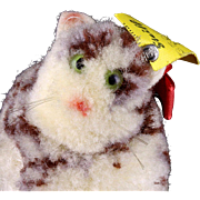SOLD Gorgeous Rare Tiny (but Plump!) Steiff Realistic Looking Wool Miniature Cat Kitten All ID