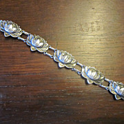 Danecraft - Felch Waterlily Sterling Bracelet