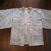 25% OFF Japanese Celadon Silk Haori  (Short Kimono)