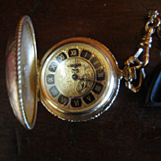 Waltham Pocket Watch with Chain Necklace