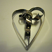 Castlecliff Rare Sterling Heart Brooch