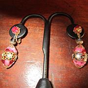 Vendome  Pink Dangle Earrings