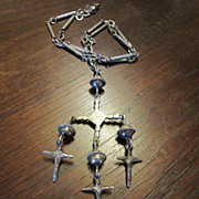 Old Sterling Yalalag Cross Necklace - Taxco