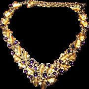 Kunio Matsumoto Grape Necklace and Earrings - Trifari