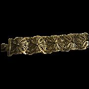 J Flores Sterling Flower Link Bracelet