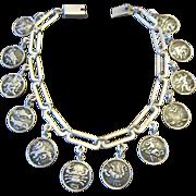Horacio de la Parra Sterling 12 Zodiac Charm Bracelet