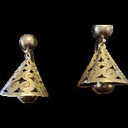 Mexico Sterling Bell Earrings