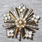 1949 Alfred Philippe Trifari Snowflake Brooch - Book Piece