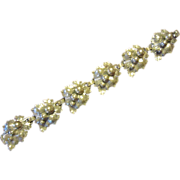 Early Cini Sterling Grapes and Leaves Bracelet