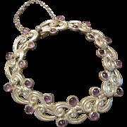 Margot de Taxco Sterling and Amethyst Bracelet - 5113
