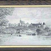 Engraving - Windsor Castle