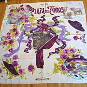 Vintage Silk Scarf by Christian Lacroix – Plaza de Toros