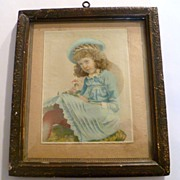 Vintage Colored Photo Matted and Framed