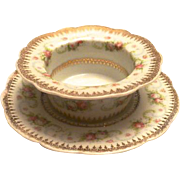 Antique Rosebud Design Ramekin Set by Imperial Crown China of Vienna, Austria