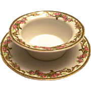 Antique Rosebud Design Ramekin – Limoges, France