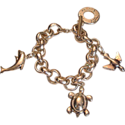 REDUCED Silver Tone Charm Bracelet