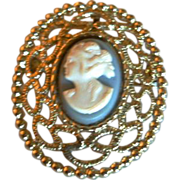 Vintage Cameo Brooch/Pendant by Sarah Coventry