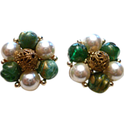 REDUCED Gorgeous Vintage Earrings by Lisner