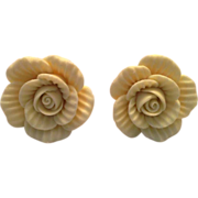 Stunning Yellow Flower Button Earrings – for Pierced Ears