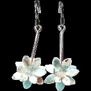 REDUCED Handmade Washi Earrings –For Pierced Ears