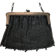 Vintage Mesh Evening Bag + Coin Purse