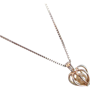 REDUCED Sterling Silver & Pearl Pendant and Chain from Italy