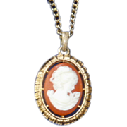 REDUCED Classic Cameo Pendant and Chain