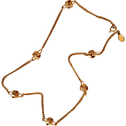 REDUCED Delicate Gold Tone Necklace by Avon