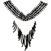 REDUCED Vintage Native American Black and White Necklace