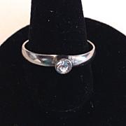 Delicate Clear Rhinestone Ring