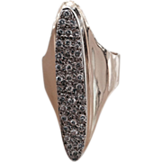 REDUCED 14 kt Gold Ladies Ring with Pave Set Diamonds