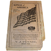 SALE 1916 V. J. Fennel Deshler Nebr. PACKARD piano advertising Songs of America with 48 star A