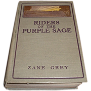 SALE 1912 first edition of Riders of the Purple Sage by Zane Grey. Illustrated by ...