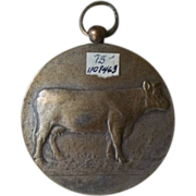 Nickel over brass KALLOO Jaarmarkt medal.  25 MAART 1940