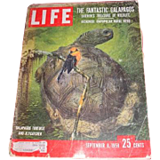 September 8, 1958 LIFE magazine featuring The Fantastic Galapagos