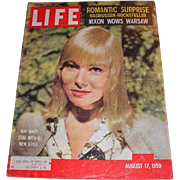August 17, 1959 LIFE magazine cover with May Britt: A Star with Style, Romantic Surprise ...