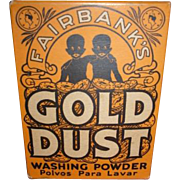 Vintage Black Americana Advertising Fairbanks Gold Dust Washing Powder  5 oz ounce box NIB new