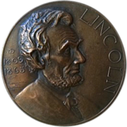 SALE Lincoln Essay Medal awarded to E. E. Elder of Hebron Nebraska