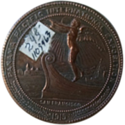 SALE Panama Pacific International Exposition 1915 San Francisco copper clad commemorative coin