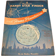 1959 Hammond's Handy Star Finder and home Planetarium.  1959 Science Fiction QUIZZLE activity