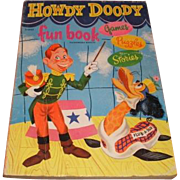 Authorized edition 1951 HOWDY DOODY Fun Book. 216925 Games, Puzzles and Stories.  Television .