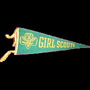 Girl Scout felt banner pennant