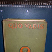 SALE 1925 Quo Vadis a Narrative of the time of Nero hardback book. No dust cover.  Henryk Sien