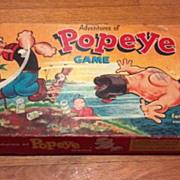 SALE Vintage 1957  Adventures of Popeye board or table game. Olive Oyl, Bluto, Hygmy Pygmy, Ca