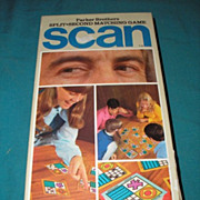 SALE 1970 edition of Parker Brothers Split-Second matching board game SCAN. Vintage original b
