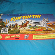 SOLD #3861 Transogram The Adventures of RIN-TIN-TIN board game in vintage 1955 original box.