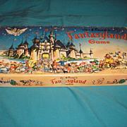 SALE Vintage original 1956 edition of Walt Disney Production's FANTASYLAND children's board ga