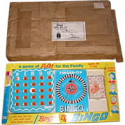 SALE 1971 BINGO board game by REGAL Games mfg. co.