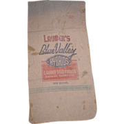 SALE Seed corn sack. Lauber's Blue Valley Hybrids from LAUBER'S SEED FARMS Geneva ...
